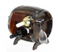 Дървена поставка за вино и чаши