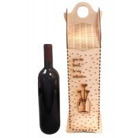 Романтична дървена кутия за вино