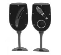 Комплект за вино в чаша с 3 аксесоара