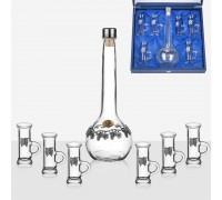 Комплект за ракия, с  бутилка и чашки
