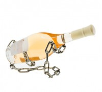 Метална поставка за вино Верига, 22.5 см