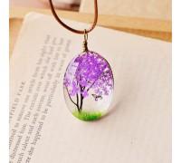 Колие Дървото на живота, лилав цвят