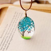Колие Дървото на живота, син цвят