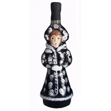 Бутилка с червено вино ''Снежанка''