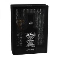 Бутилка Джак  Даниелс в метална кутия + 2чаши