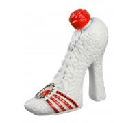 Бутилка бяла Дамска обувка, водка 350мл, керамика