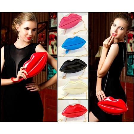 Елегантна чанта Целувка, в различни цветове