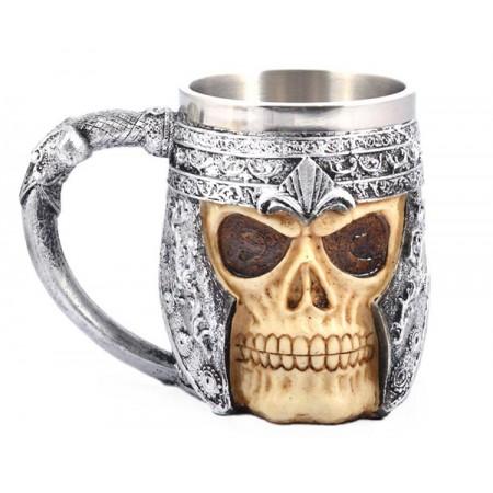 Уникална метална чаша с череп
