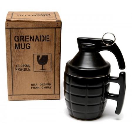 Чаша за кафе Граната с капаче и метална дръжка