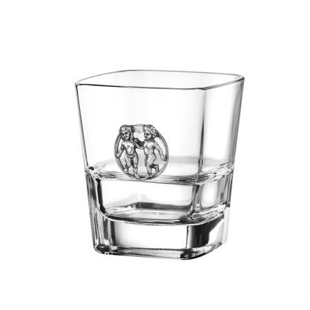 Чаша за уиски със зодия - Близнаци