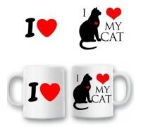 """Чаша """"Аз обичам котката си"""""""