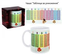Керамична чаша Таблица за умножение