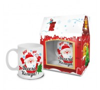 "Коледна чаша ""Дядо Коледа"""