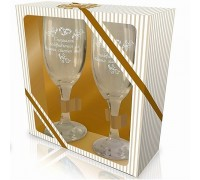 """Комплект чаши """"Специални поздравления за вашия сватбен ден"""""""