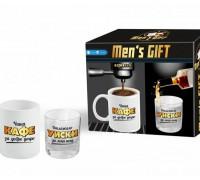 За него - мъжки комплект с чаша за кафе и за уиски