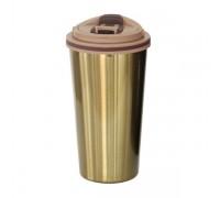 Луксозна термо чаша със златист или титанов отблясък, 500 мл
