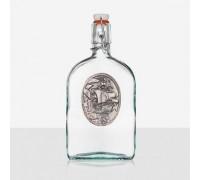 Оригинална бутилка за алкохол с декорация кораб