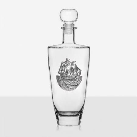 Бутилка  за уиски с декорация кораб