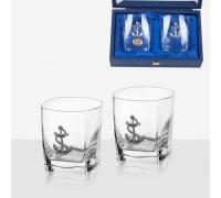 Комплект две чаши  за уиски с котва