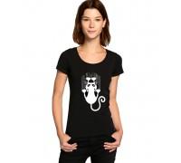 """Тениска с надпис """"Драскаща котка"""" , дамска"""