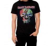 Мъжка тениска Iron Maiden в черен цвят The Final Frontier