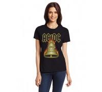 """Дамска тениска с надпис """"AC/DC"""""""