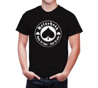 Мъжка тениска''Motorhead'', черен/бял цвят