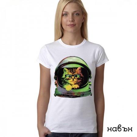 Дамска соларна тениска ''Коте космонавт''