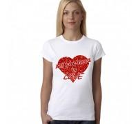 Тениска с надпис'' All you need is LOVE'' , дамска