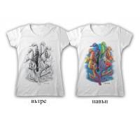 """Соларна тениска """"Морски кончета"""", дамска"""