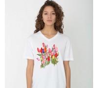 """Дамска тениска с надпис  """"Лалета"""""""