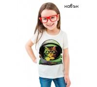 Соларна тениска ''Коте космонавт''