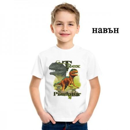 """Соларна тениска """"T-Rex"""" хищници"""