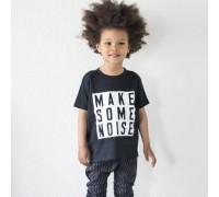 "Тениска  с надпис  ""Make Some Noise"" , детска"