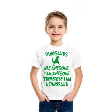 """Бяла тениска """"Динозаври"""""""