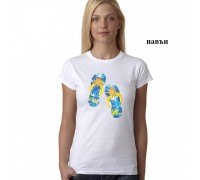 "Дамска соларна тениска с надпис""Джапанки"""