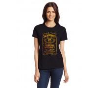 """Дамска тениска с надпис  """"Jack Daniels"""""""