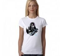 """Дамска тениска с надпис  """"Darth Vader"""""""