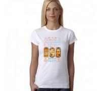 """Дамска тениска с надпис """"Discover The Beer"""""""
