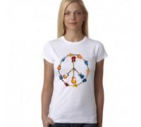 Дамска тениска с знака на мира