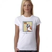 """Дамска тениска  с надпис""""BB8"""""""