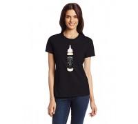 """Тениска с надпис """"Мляко - Джак Даниелс"""" , дамска"""