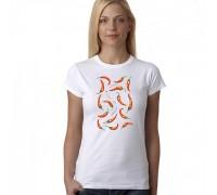 """Тениска с надпис """"Peppers"""", дамска"""