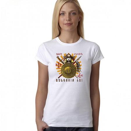 Дамска тениска с надпис ''Bulgaria 681''