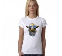 """Тениска със щампа """"Yoda"""", дамска"""