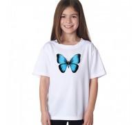 "Бяла тениска ""3D пеперуда"""