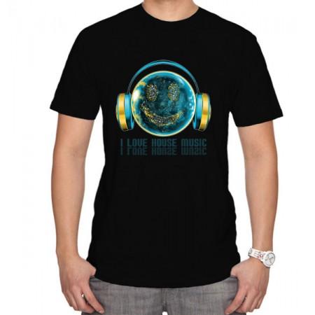 Тениска I love house music
