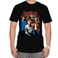 Тениска с надпис Metallica