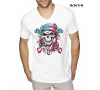 """Соларна тениска""""Американски череп"""", мъжка"""