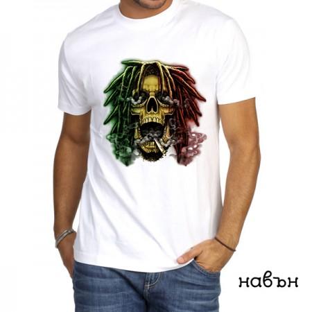 Мъжка соларна тениска ''Череп Раста''